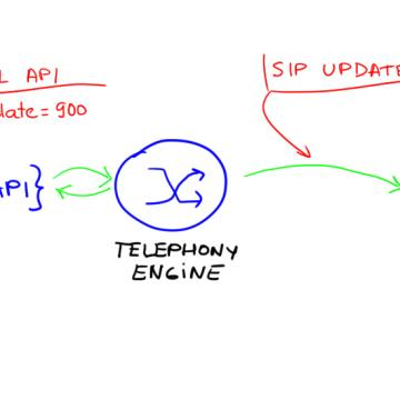 Voice API call with SIP UPDATE message